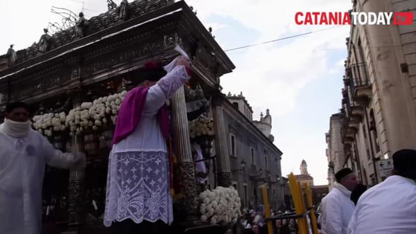 Festa di Sant'Agata: la salita di Sangiuliano ed il canto delle suore di clausura | Video