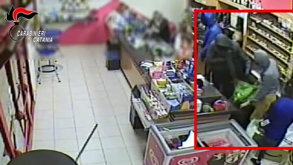 Rapina in una stazione di servizio a Vizzini | Video