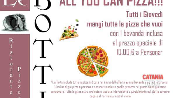 'All you can pizza' a 'Le Botti'