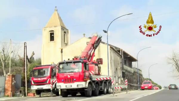 Interventi post sisma, messa in sicurezza chiesa di Viagrande | VIDEO