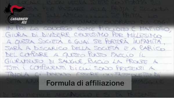 "Operazione ""Equilibri"", la formula dell'affiliazione al clan Fragalà | VIDEO"