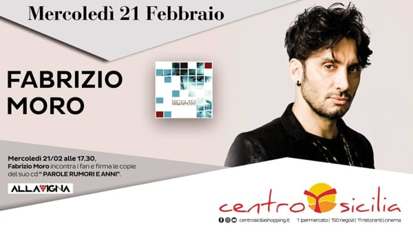 Fabrizio Moro al 'Centro Sicilia'
