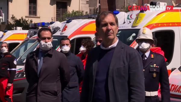 Coronavirus, Catania rende omaggio alle vittime |  Video