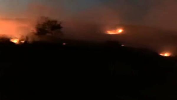 Catania in fiamme, incendio a San Giorgio | VIDEO