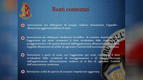 Blitz al clan Cappello-Bonaccorsi, le indagini