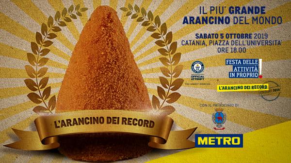 L'Arancino più grande del mondo: METRO supporta la città di Catania per battere il Guinness World Record
