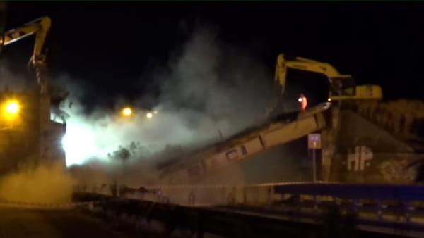 Abbattutto il ponte Graci a Misterbianco: tra due giorni riaperta la strada 121 | Video