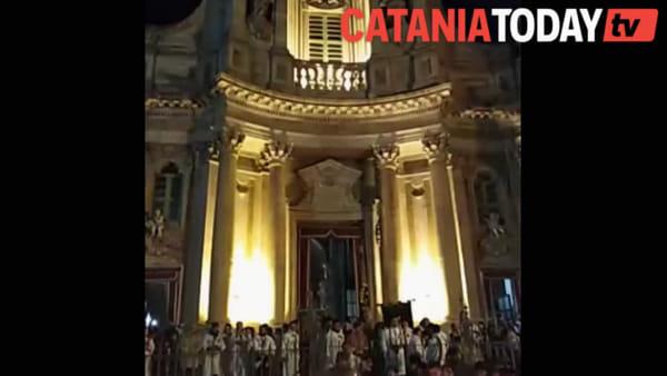 Sant'Agata, le preghiere dei fedeli alla Collegiata