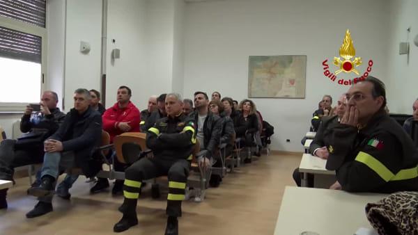 Prefetto Sammartino in visita al comando provinciale dei vigili del fuoco   Video