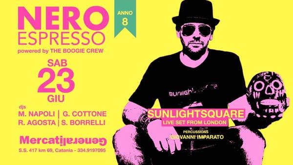 'Nero Espresso feat Sunlightsquare' ai MercatiGenerali