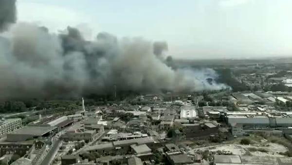 La Plaia distrutta dalle fiamme: le immagini dal drone | VIDEO