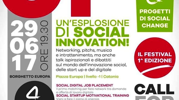 1° Edizione 'Festival Straight UP per la Social Innovation' al Borghetto Europa