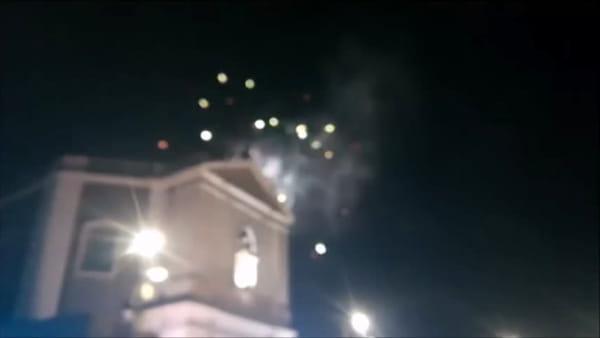 Sant'Agata, i fuochi pirotecnici al Fortino