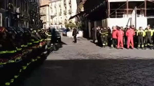 L'arrivo del Presidente Mattarella al teatro Bellini di Catania