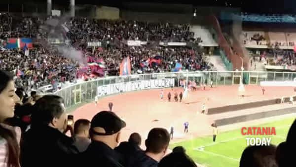 Calcio, Catania Potenza finisce 1 a 1 | Video