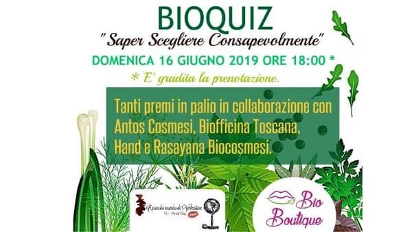 'BioQuiz' alla Bio Boutique