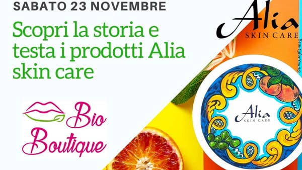 'Alia Skin care' da Bio Boutique