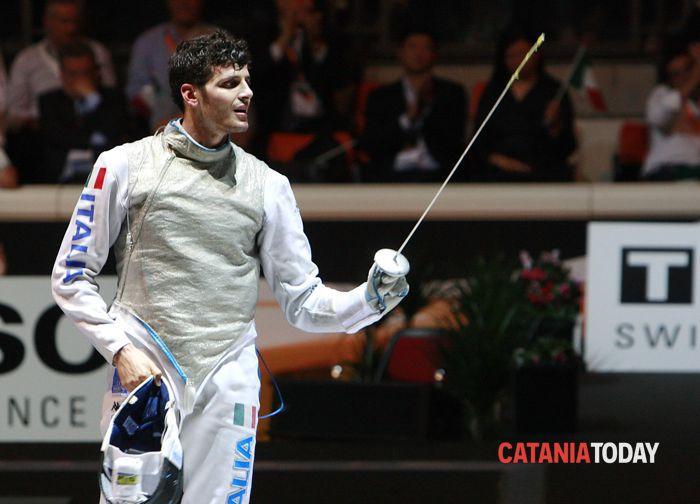 Mondiali di scherma Andrea Cassarà vince l'oro credit TM News Infophoto 1